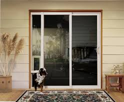 image of awesome sliding glass pet door