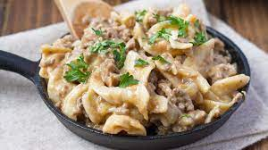 beef stroganoff with mushroom soup