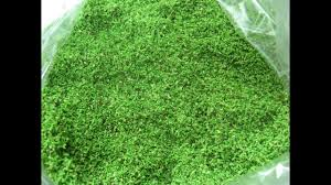 the turf grass powder sand pile material surface decoration of green scene reconstruction model