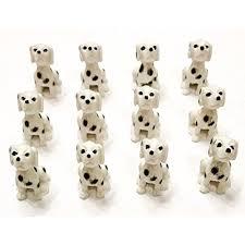 12 Mini Dalmatian Dog Figures. Small ...