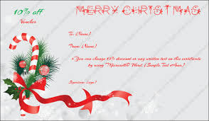 Christmas Gift Certificate Template 6 Gift Template In