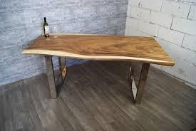 Suar Massivholz Esstisch Baumkante Baumtisch Aus Einem Stück Ebay