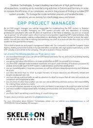 resume erp administrator manager cv template project management erp project manager cv