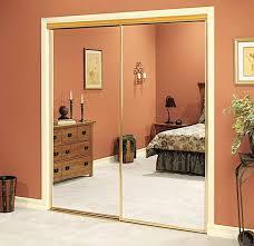 mirrored bifold closet doors design