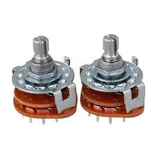 2pcs high quality rotary switch selector 2 pole 6 position hot 2 x channel band rotary switch selector 2 pole 6 position
