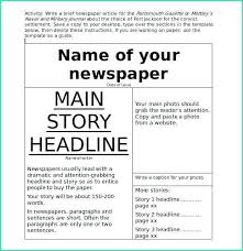 Fake Newspaper Template Word This Website Has Some Great Templates Editable Newspaper