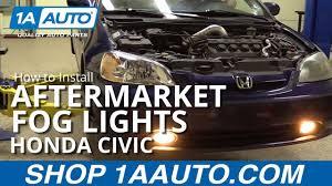 How To Install Fog Lights On Honda Civic 2005 How To Install Aftermarket Foglights 01 05 Honda Civic