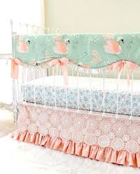 peach crib bedding image 0 and mint nursery