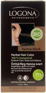 Logona Hair Dye Color Chart Logona Herbal Hair Colour Powder Henna Black