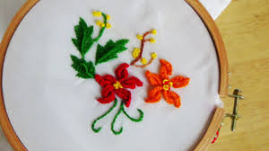 Pillow Case Hand Embroidery Designs Hand Embroidery Flower For Pillow Case Stitch