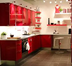 Red Gloss Kitchen Cabinets Kitchen Beautiful Interior Red Kitchen Design With Red Gloss