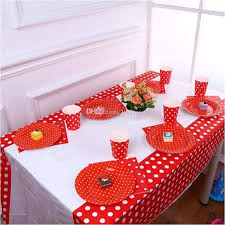 polka dot plastic table cloth kids birthday party decoration baby shower decoration supplies disposable tablecloth 60 round tablecloth wedding