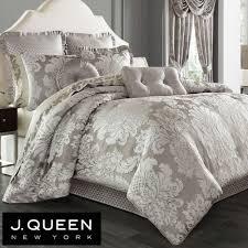 chandelier comforter set silver gray