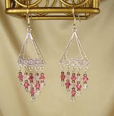 handcrafted chandelier swarovski crystal earrings