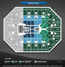 Selena Gomez Seating Chart Selena Gomez Target Center