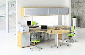 ... With Sliding Frosted Doors Over Modern Pine Computer Office Double Desk  With Modern Low Back Swivel Chair In Minimalist Home Office Designs Ideas