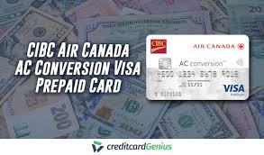 cibc air canada ac conversion visa prepaid card