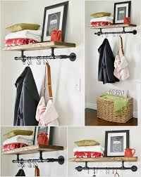Diy Industrial Coat Rack Cool An Exciting Industrial Coat Rack Diy Shelves Racks Pinterest