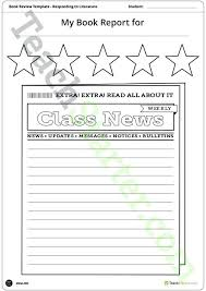 Book Report Poster Template Newspaper Book Report Template Format Ks1 Marvie Co