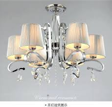 crystal chandelier with shade multiple chandelier fabric shade glass crystal chandelier light large metal lamp in