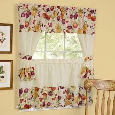 Sunflower Curtains For Kitchen Exciting White Walmart Kitchen Curtains Made From Polyester