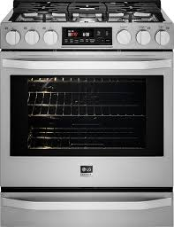 ft gas selfcleaning slidein range with probake convection stainless steel slide in stove o56