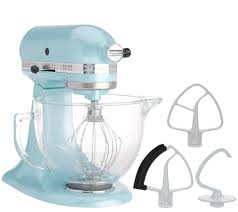 Kitchen Aid Ice Blue Kitchenaid 5 Qt 325w Tilt Head Stand Mixer W Glass Bowl