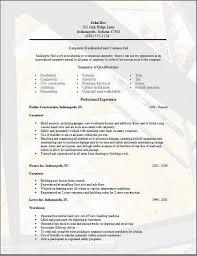 Carpenter Job Description For Resume Construction Resum