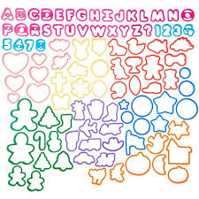 Cookie Cutters Set 101 Piece Alphabet Numbers And Holiday Cookie Cutters