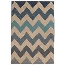chevron blue 8 ft x 10 ft area rug
