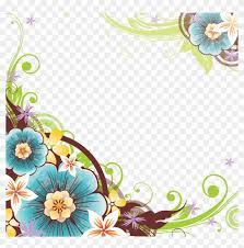 flower border design png transpa
