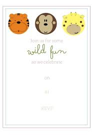 Free Printable Safari Birthday Invitations Free Printable Jungle Party Invitation Birthday Party Ideas For 8