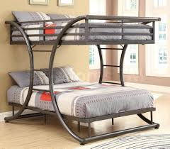 Contemporary Full Size Loft Bed Design With Curved Frame