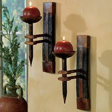 tequila barrel wall candle holder