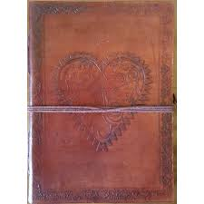 heart leather journal at majestic dragonfly home decor artwork unique decorations