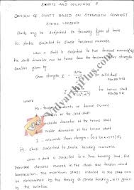 Machine Design 1 Notes Design Of Machine Elements Premium Lecture Notes Prepared By