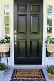 black front doors. Perfect Front NonFade Front Door Paint With Modern Masters  Color Elegant Black  Project Via The Crowned Goat With Black Doors T