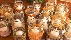 Decorating Candle Jars NOW WHAT'S THE PLAN Side Project DIY Diwali Lights 29