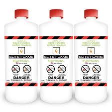 elite flame bio ethanol fireplace fuel 3 pack