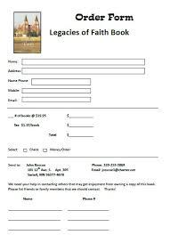 Souvenir Book Template Book Order Form Template