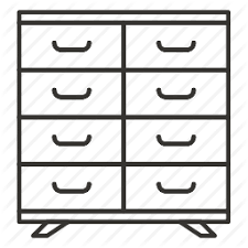 dresser clipart black and white. pin furniture clipart clothes dresser #11 black and white n
