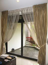 Kitchen Window Dressing Curtains For Sliding Doors Bedroom Light Taupe Inside And Deep