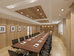 elegant office conference room design wooden. The Meeting Room Is Characterized With Same Elegant Wood Cladding A Portion Of Marble, Emphasized By Play Well Designed System Lighting. Office Conference Design Wooden