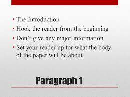 paragraph essay ppt video online  paragraph 1 the introduction hook the reader from the beginning