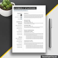 Resume Template Cover Letter Cv Template Word Us Letter A4