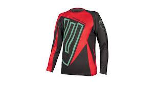 Endura Mt500 Junior Mtb Kids Jersey Long Sleeve Size 7 8yrs Red