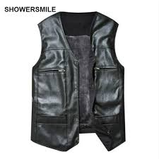 2019 whole large size black leather vest men fleece lined warm jackets sleeveless coat winter pu leather vest pocket classic gilet from ario