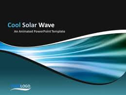 wave powerpoint templates warm solar wave a powerpoint template from presentermedia com