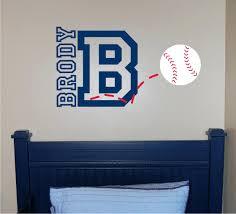 wall decals baseball baseball name initial wall decal baseball wall decal  sports baseball name initial wall . wall decals baseball ...