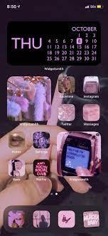 15 Pink iOS 14 Home Screen Ideas ...